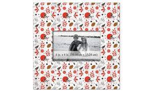 Cleveland Browns Floral Pattern Picture Frame