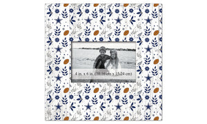 Dallas Cowboys Floral Pattern Picture Frame
