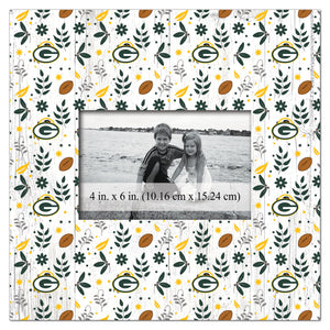 Green Bay Packers Floral Pattern Picture Frame