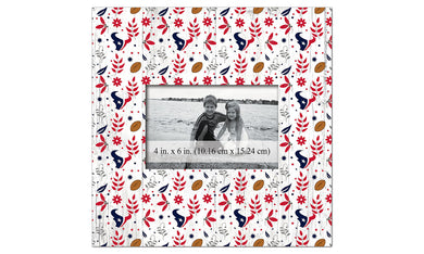 Houston Texans Floral Pattern Picture Frame