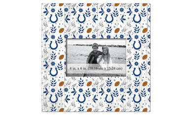 Indianapolis Colts Floral Pattern Picture Frame