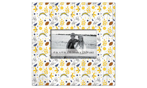 Los Angeles Chargers Floral Pattern Picture Frame