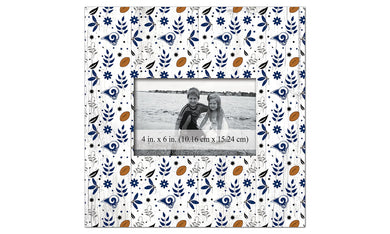 Los Angeles Rams Floral Pattern Picture Frame
