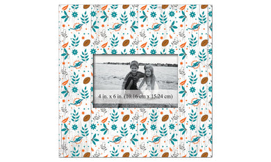 Miami Dolphins Floral Pattern Picture Frame