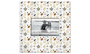 New Orleans Saints Floral Pattern Picture Frame