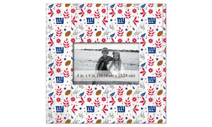 New York Giants Floral Pattern Picture Frame