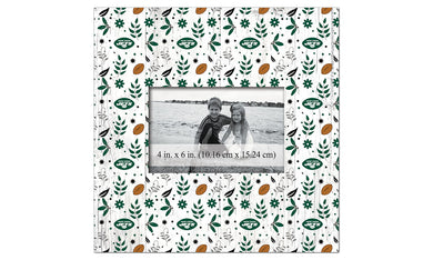 New York Jets Floral Pattern Picture Frame