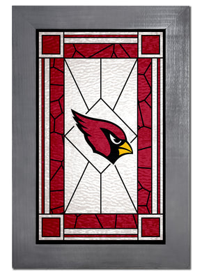 Arizona Cardinals Stained Glass Wood Sign