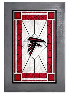 Atlanta Falcons Stained Glass Wood Sign