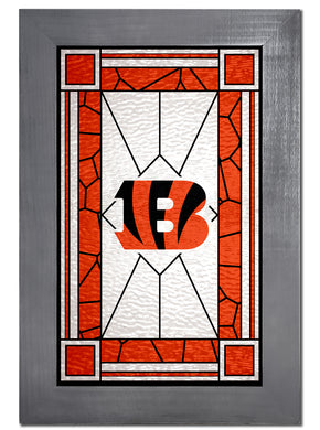 Cincinnati Bengals Stained Glass Wood Sign