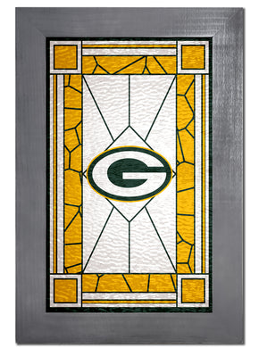Green Bay Packers Stained Glass Wood Sign