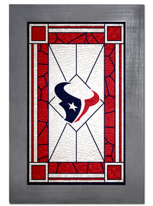 Houston Texans Stained Glass Wood Sign