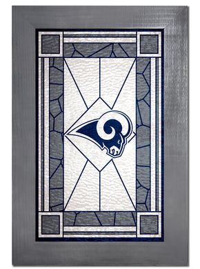 Los Angeles Rams Stained Glass Wood Sign