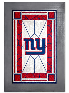 New York Giants Stained Glass Wood Sign