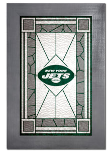New York Jets Stained Glass Wood Sign