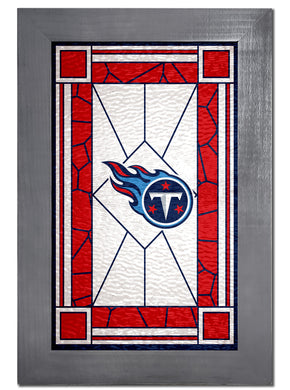 Tennessee Titans Stained Glass Wood Sign