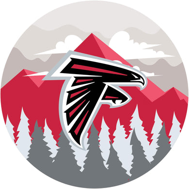 Atlanta Falcons Landscape Circle Sign - 12