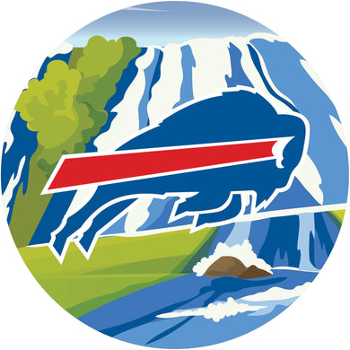 Buffalo Bills Landscape Circle Sign - 12