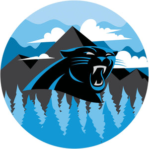 Carolina Panthers Landscape Circle Sign - 12""