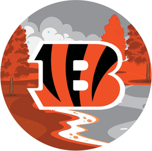 Cincinnati Bengals Landscape Circle Sign
