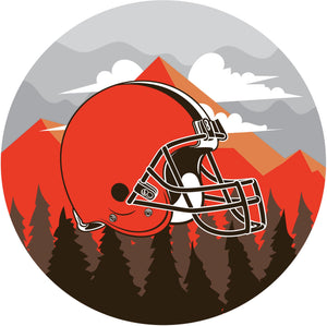 Cleveland Browns Landscape Circle Sign