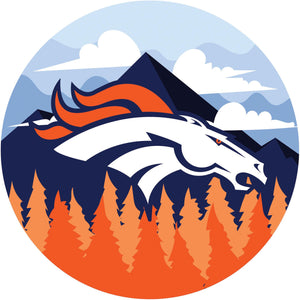 Denver Broncos Landscape Circle Sign