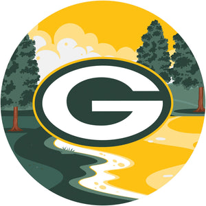 Green Bay Packers Landscape Circle Sign