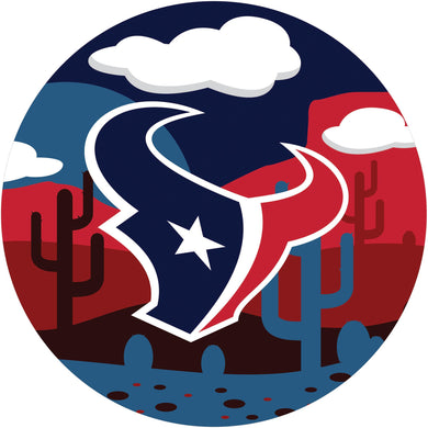 Houston Texans Landscape Circle Sign