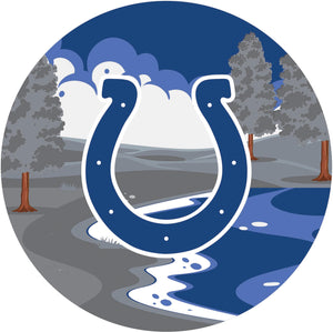 Indianapolis Colts Landscape Circle Sign