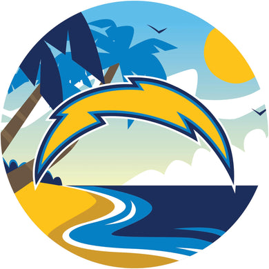 Los Angeles Chargers Landscape Circle Sign