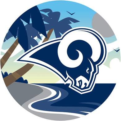 Los Angeles Rams Landscape Circle Sign