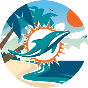 Miami Dolphins Landscape Circle Sign