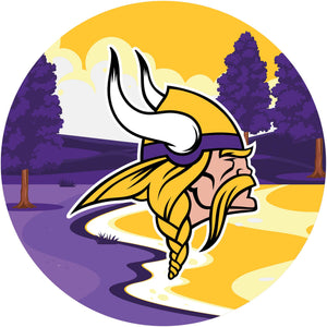 Minnesota Vikings Landscape Circle Sign