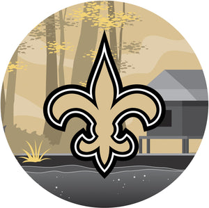 New Orleans Saints Landscape Circle Sign