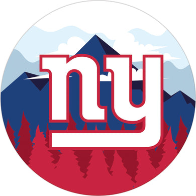 New York Giants Landscape Circle Sign