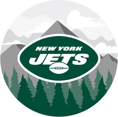 New York Jets Landscape Circle Sign