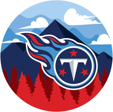 Tennessee Titans Landscape Circle Sign