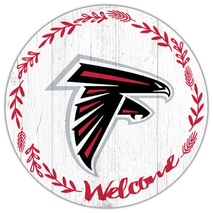 Atlanta Falcons Welcome Circle Sign