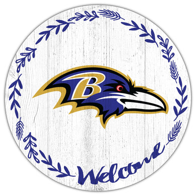 Baltimore Ravens Welcome Circle Sign
