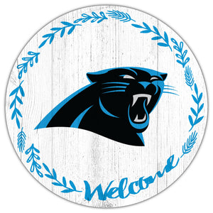 Carolina Panthers Welcome Circle Sign