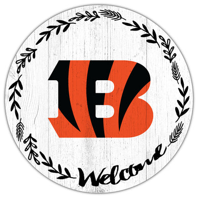 Cincinnati Bengals Welcome Circle Sign
