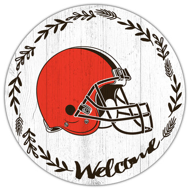 Cleveland Browns Welcome Circle Sign