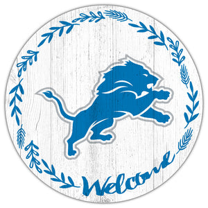 Detroit Lions Welcome Circle Sign