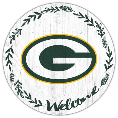 Green Bay Packers Welcome Circle Sign