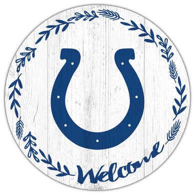 Indianapolis Colts Welcome Circle Sign