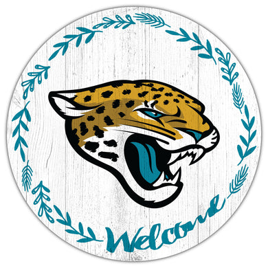 Jacksonville Jaguars Welcome Circle Sign