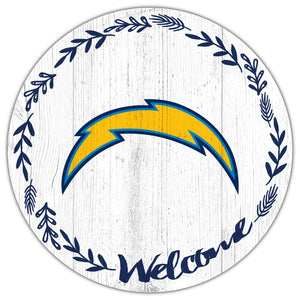 Los Angeles Chargers Welcome Circle Sign