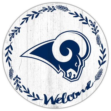 Los Angeles Rams Welcome Circle Sign