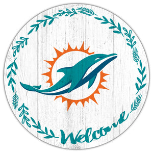 Miami Dolphins Welcome Circle Sign
