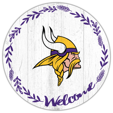 Minnesota Vikings Welcome Circle Sign